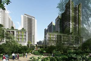 The 940-unit Punggol Point Woods is expected to be completed by 2023.
