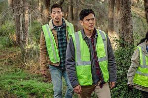 Searching stars John Cho (foreground) and Joseph Lee.