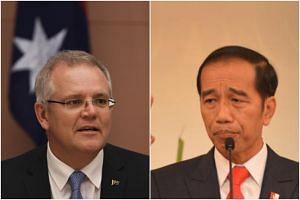 Australia's new prime minister Scott Morrison (left) will meet Indonesia's President Joko Widodo at the Bogor palace south of Jakarta.