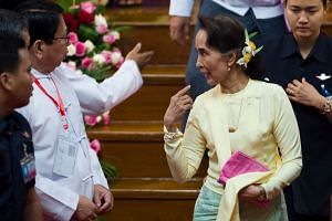 Ms Aung San Suu Kyi won the Nobel Peace Prize in 1991 for campaigning for democracy. She has been criticised for failing to speak out against the army crackdown in Rakhine State.