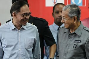 Malaysia's Prime Minister Mahathir Mohamad (right) told Malaysians in Brunei on Sunday evening (Sept 2) that he was confident Datuk Seri Anwar Ibrahim is now more mature and much experienced.