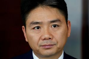 JD.com founder Richard Liu attends a Reuters interview in Hong Kong, China, on June 9, 2017. Liu was in Minneapolis to complete a US-China business administration doctorate programme.