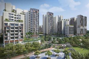 Plantation, the first of five housing districts to be launched in Tengah later this year, will contain about 10,000 new flats when completed.