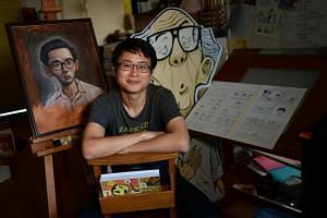 Graphic novelist Sonny Liew (pictured) attended the meeting with his friends, historian Thum Ping Tjin, journalist Kirsten Han and activist Jolovan Wham.