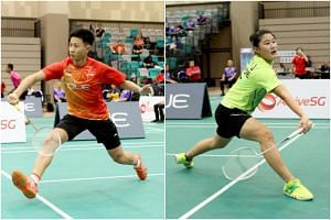 Shuttlers Joel Koh (left) and Jaslyn Hooi were selected to represent Singapore at the upcoming Youth Olympic Games.