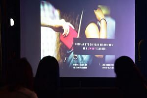 A poster shown during the launch of the Smart Clubbing campaign at Zouk on Sept 5, 2018.