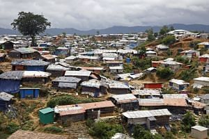 A general view of a Rohingya refugees' makeshift camp in Kutubpalang, Cox Bazar district, Bangladesh, on Aug 26 2018.