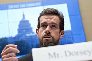 Twitter CEO Jack Dorsey speaking during the House Energy and Commerce Committee hearing in Washington on Wednesday.