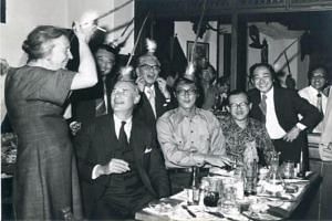 Emeritus Senior Minister Goh Chok Tong's book includes a photo of himself and former Hong Kong chief executive Tung Chee Hwa at a party in Vienna in the 1970s.