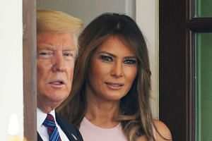 US President Donald Trump and First Lady Melania Trump pictured at the White House on Aug 27, 2018.