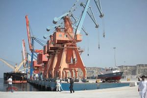 The projects under the China-Pakistan Economic Corridor plan included a huge expansion of the Gwadar port (pictured) on Pakistan's south coast, as well as road and rail links, and power plants.