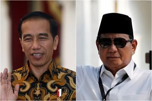 As campaigning kicks off, all eyes will be on the contest between President Joko Widodo (left) and his old rival, former general Prabowo Subianto.