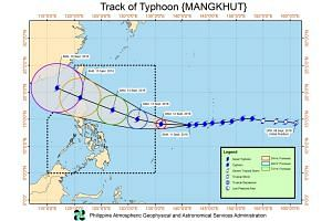 Typhoon Mangkhut is forecast to pack maximum winds of 230kph by Sept 14, 2018, before gradually weakening.