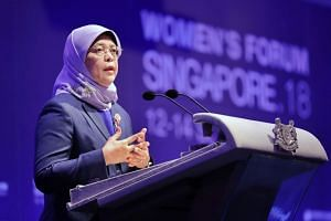 President Halimah Yacob said that the disruptive economy could be viewed in a positive light.