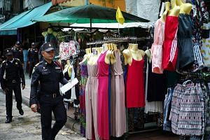 Shops by street vendors in Khao San tourist street in Bangkok are under threat.