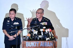 Deputy Inspector-General Noor Rashid Ibrahim of the Royal Malaysian Police at the press conference on the 1MDB investigation, held at the national police headquarters in Kuala Lumpur on Sept 13, 2018.