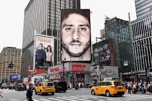 A Nike ad with American football star Colin Kaepernick. The use of Kaepernick could be Nike's way to reclaim some of its edge.