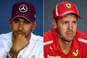 There has been no lack of fireworks this season, with Lewis Hamilton (left) and Sebastian Vettel clashing on the track, most infamously at the Italian GP's opening lap two weeks ago, and also off it.