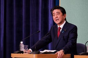 """Japan still maintains its stance that it will resolve territorial issues before signing a peace treaty,"" said Prime Minister Shinzo Abe."