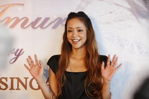 Queen of J-pop Namie Amuro at a press conference in Singapore on July 7, 2012.