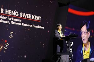 Finance Minister Heng Swee Keat announced the creation of a new academy that sends Singapore interns abroad, during the Singapore Week of Innovation and Technology.