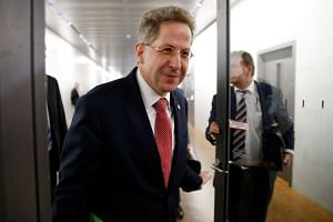 """Maassen (above) voiced doubt that racists had """"hunted down"""" foreigners."""