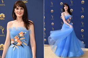 The Godless actress looked absolutely ethereal in this Cinderella-blue number adorned with flowers. It's beautiful but different enough from the average gown to make it stunning in a special way.