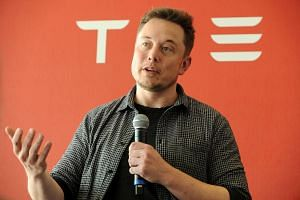 Shares skidded as word spread of a criminal investigation triggered by Tesla chief executive Elon Musk's Twitter comments.