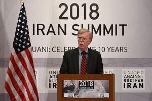 "National security adviser John Bolton promised ""terrible consequences"" for anyone who continues to do business with Iran after Nov 4, 2018."