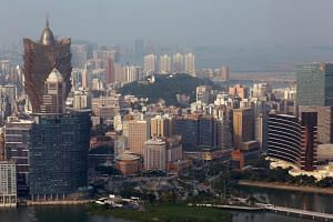 File photo showing the skyline of Macau, on Oct 8, 2015.