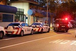 The Straits Times arrived outside the home at around 7pm and saw heavy police presence with more than 15 police vehicles and 10 police bikes.