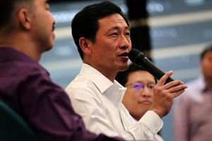 Education Minister Ong Ye Kung addressing the media on Sept 28, 2018. He described changes to exams and grading as a step forward in improving the balance between the joy of learning and the rigour of education.