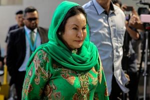 Datin Seri Rosmah Mansor, the wife of former Malaysian prime minister Najib Razak, arriving at the Malaysian Anti-Corruption Commission in Putrajaya on Sept 26, 2018.