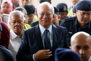 Malaysia's former Prime Minister Najib Razak arrives in court in Kuala Lumpur, on Oct 4, 2018.