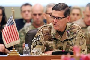General Joseph Votel (above, in a file photo) heads the US Central Command.