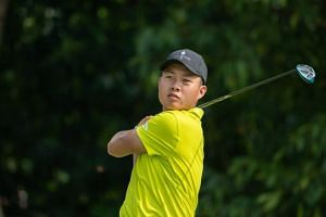 Lin Yuxin fired an impressive nine birdies marred by one bogey to record the lowest round of his fledgling career.