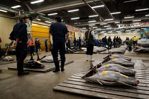 Tokyo fishmongers gathered before dawn for one final tuna auction at the world-famous Tsukiji market on Oct 6, 2018.