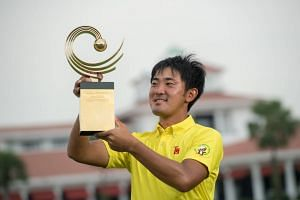Takumi Kanaya won the 10th Asia-Pacific Amateur Championship at the Sentosa Golf Club on Oct 7, 2018. He shot a four-round total of 13-under 267 (69-69-64-65).