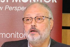 Saudi dissident Jamal Khashoggi at an event hosted by Middle East Monitor in London, Britain, on Sept 29, 2018.