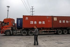 The entrance to Xi'an Railway Cargo Container Centre in Xi'an, the capital of Shaanxi province, where many international freight trains begin their trade routes, within the framework of China's Belt and Road Initiative (BRI). The BRI has become a glo