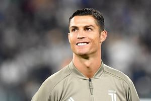 Juventus' Cristiano Ronaldo at a pre-match session at Allianz Stadium, Turin, Italy, on Sept 26, 2018.