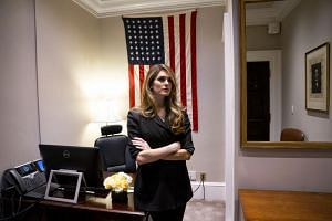 White House Communications Director Hope Hicks in her office on her last day at the White House in Washington, March 29, 2018.