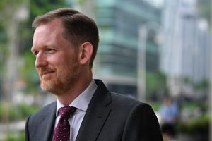 KPMG executive director Owen Hawkes at the Supreme Court on Oct 9, 2018. KPMG was appointed to look into Aljunied-Hougang Town Council's books after the Auditor-General's Office found significant governance lapses in a special audit.