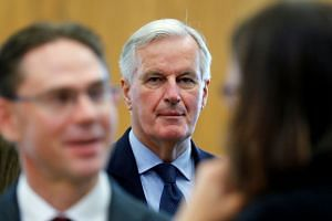 Barnier takes part in the EU Commission's weekly college meeting in Brussels, Belgium, Oct 10, 2018.