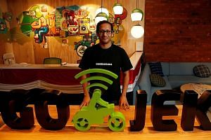 Go-Jek, founded by Indonesian Nadiem Makarim (above), is likely to offer more than ride-hailing services here. Its app in Indonesia extends to food delivery and massage services.