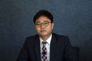 North Korean defector Ji Seong Ho at a discussion on North Korean Escape Perspectives on the Inter-Korean Peace Process at the National Press Club in Washington, DC, on Oct 9, 2018.