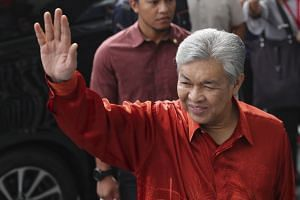 File photo showing former Malaysia's former deputy prime minister Zahid Hamidi arriving at Malaysian Anti-Corruption Commission Headquarters in Putrajaya, on July 2, 2018.