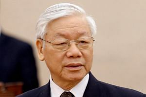 Communist Party General Secretary Nguyen Phu Trong in Hanoi, on April 2, 2018. If endorsed by the National Assembly, he will become the first Vietnamese leader to hold two political positions since Ho Chi Minh.