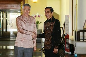 Prime Minister Lee Hsien Loong (left) said he had a fruitful discussion on ways to deepen cooperation with President Joko Widodo.