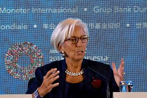 "IMF managing director Christine Lagarde said that escalating trade disputes hit ""innocent bystanders""."